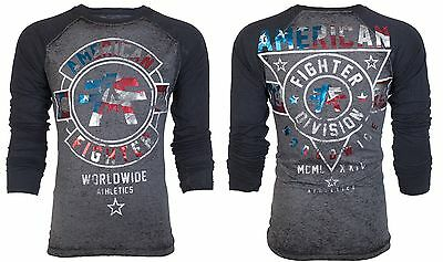 American Fighter AFFLICTION Mens LS T-Shirt PATRIOT Gym USA Flag UFC M-XXL $44