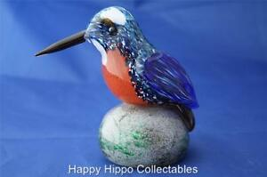 LANGHAM-GLASS-HAND-MADE-CRYSTAL-KINGFISHER-NEW-BOXED