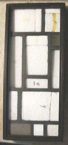 "Old Wood Specimen Case-Rocks?/Insects w/ Glass-9.25""x21.25"" Black-NICE"