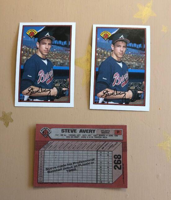 1989 Bowman Steve Avery 268 Baseball Card For Sale Online Ebay