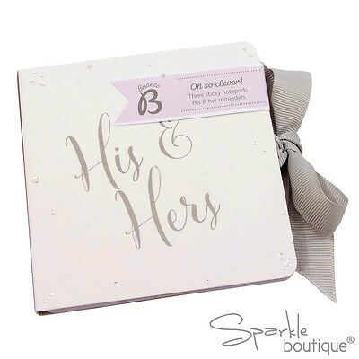 His & Hers Wedding Sticky Labels/Stickers -Engagement Gift- Wedding Planning Pad