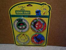 1984 SESAME STREET 4 BEAD GAMES Sealed,cookie monster,oscar,ernie,big bird,eye