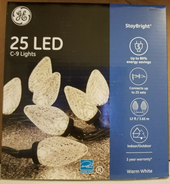 GE Energy Smart 100-Count 49.5-ft Stay Bright Multicolor C9 LED String Lights