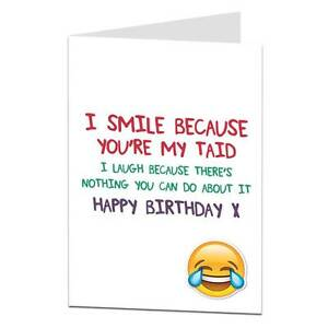 Funny happy birthday card for taid welsh wales ebay image is loading funny happy birthday card for taid welsh wales m4hsunfo