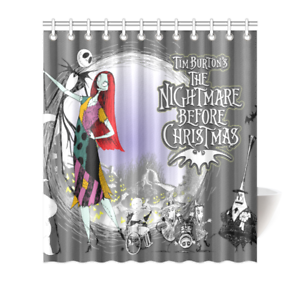 Image Is Loading Nightmare Before Christmas Shower Curtain Bath Decor