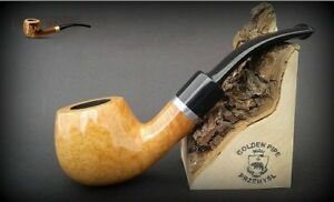 HAND-MADE-WOODEN-SMOKING-PIPE-for-TOBACCO-BRUYERE-no-74-Natural-Colour-Briar