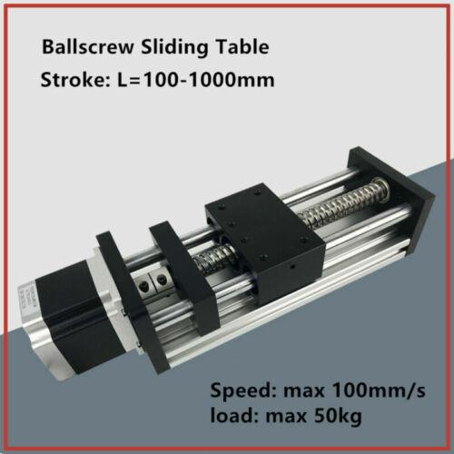 GGP Ball Screw Sliding Table Linear Motion Guide Rail Nema 23 Stepper Motor