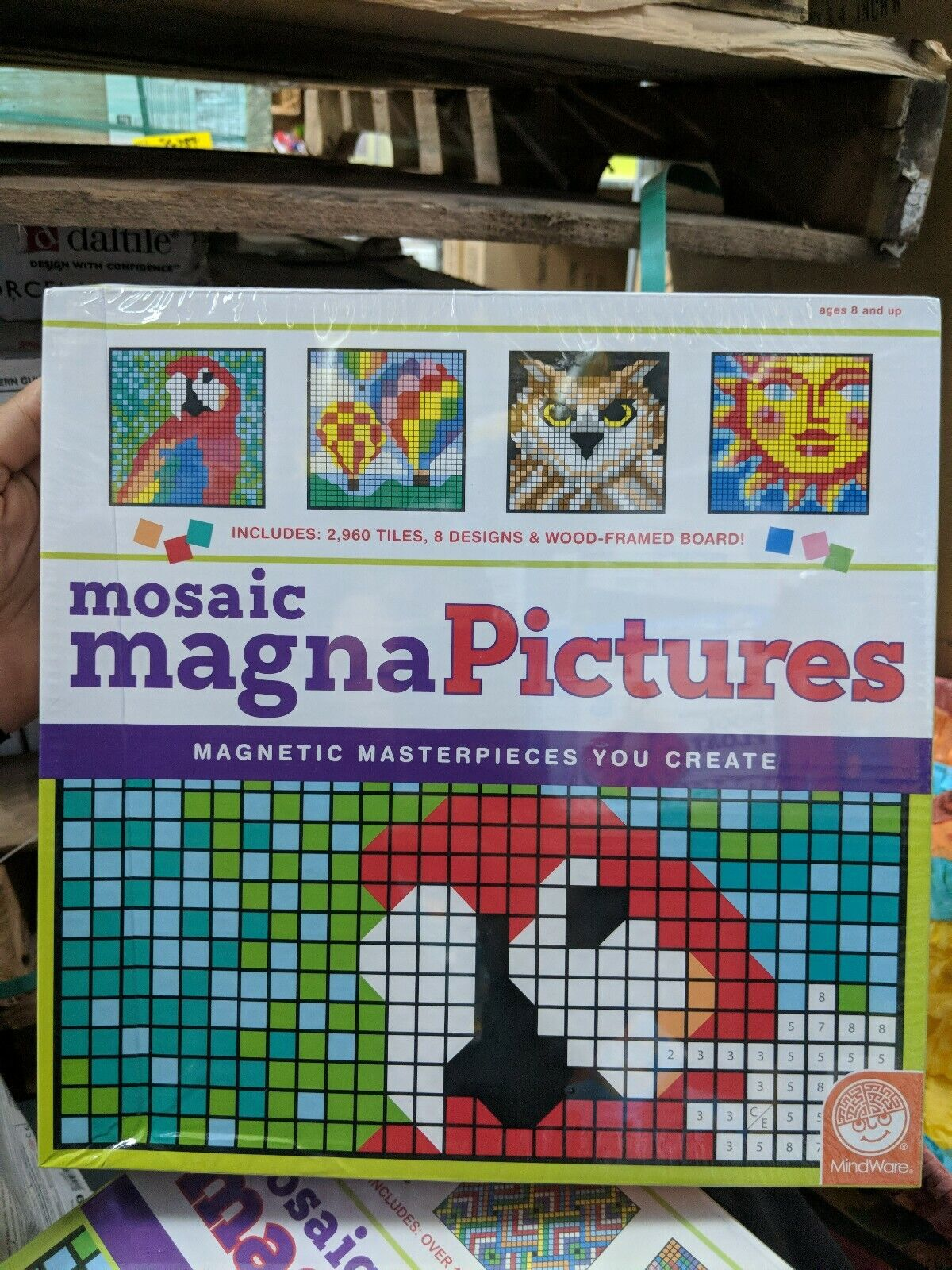 Mosaic Magna Pictures Masterpieces You Create (New in Plastic, Some Denting)