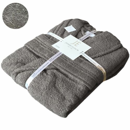 Unisex Hooded 100/% Egyptian Cotton Terry Towel Bathrobe Dressing Gown Spa Hotel