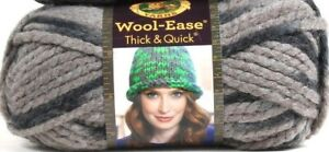 1-Lion-Brand-Wool-Ease-Thick-amp-Quick-6-Super-Bulky-519-Raven-Washable-Yarns