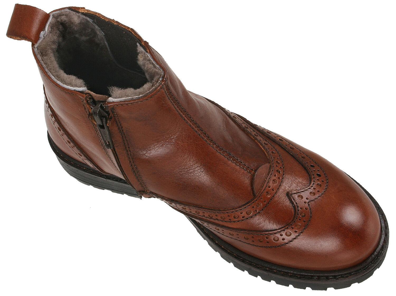 Momino 1001M Schuhe Lammfell Chelsea Stiefel Stiefel Budapester Leder Lammfell Schuhe 33-40 Neu 21f0ae