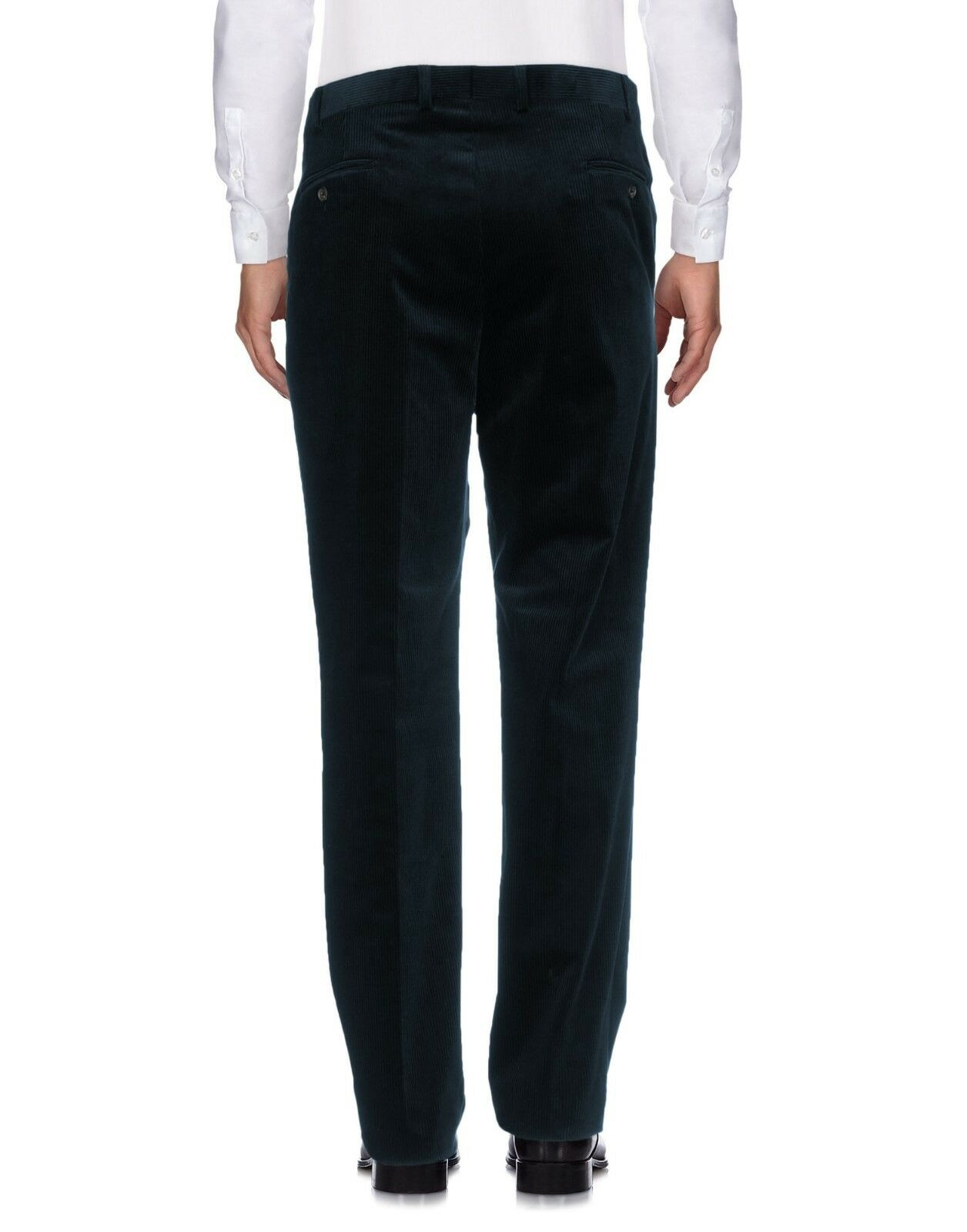 Pal Zileri Pull Men's Dark Blau Double Pleated Corduroy Pants Trousers - W41 L33
