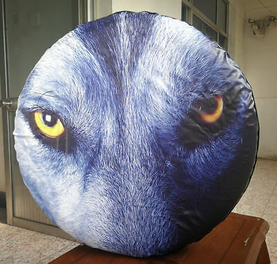 SUV 16 for Diameter 29-31 Camper and Vehicle sofu Spare Tire Cover Wheel Cover with Wolf PVC Leather Waterproof Dust-Proof Universal Fit for Jeep,Trailer RV