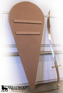 Details About Blank Sanded Unpainted Wooden Kite Shield Scalarpcrusadescrusaderarmor