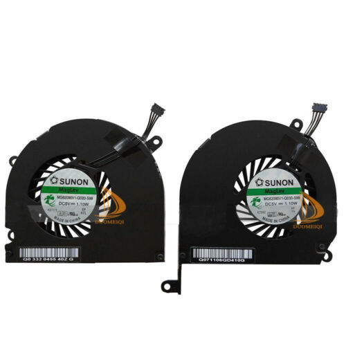 """New Fan Left and Right Side CPU Cooling Fans for 17/"""" A1261 2008 MacBook Pro #DD"""