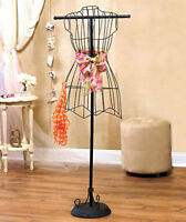 Vintage Style Wire Dress Form Mannequin Boutique Holder Store Display Stands