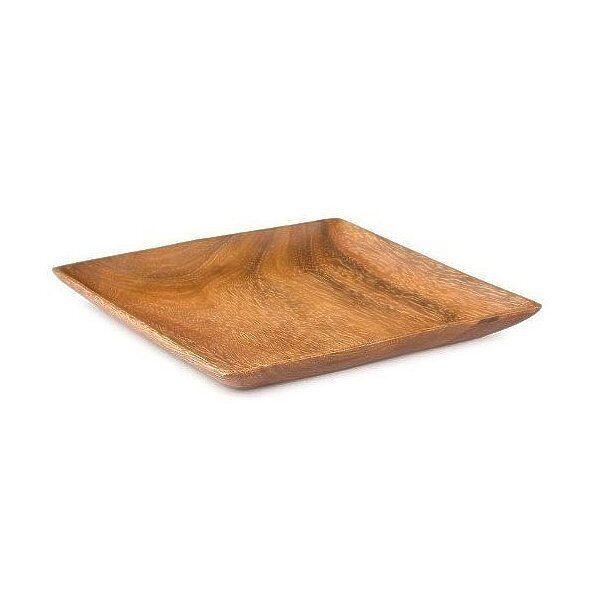 Islander Acacia Wood Square Plate 1  x 10  x 10  Set of 4
