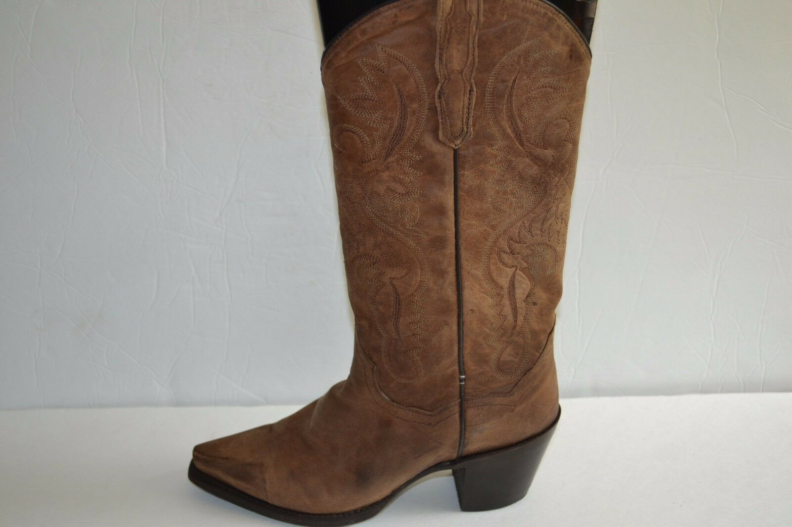 Dan Post Donna Cowgirl Boots Maria BROWN LEATHER WESTERN SNIP TOE DP3208 SZ 6.5
