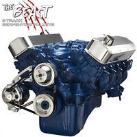 Ford Big Block Serpentine Pulley Kit Alternator Only 429 460 Bbf Billet Aluminum