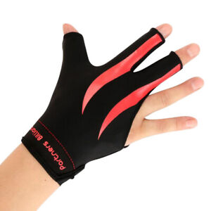 Three-Fingers-Right-Hand-Snooker-Pool-Cue-Billiard-Gloves-Red-Black