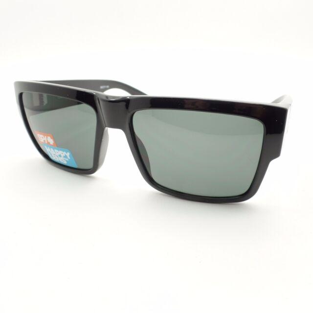 7a53901f72 Spy Optic Cyrus Sunglasses Black Frame Grey Green Happy Lens ...