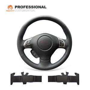 Black-Leather-Steering-Wheel-Cover-for-Subaru-Forester-Impreza-WRX-Legacy-Exiga