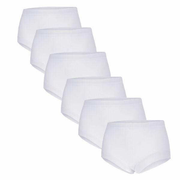Damen Taillenslip Baumwolle Slips Unterhose Feinripp 6 Stück bis Übergröße 68/70