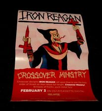 Music Poster Promo Iron Reagan Crossover Ministry King Woman - Double Sided