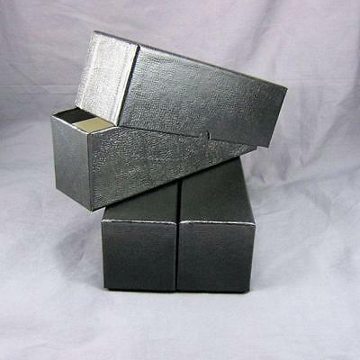 5 Black Cardboard Coin Slab Single Row Storage Boxes for NGC PCGS /& Other Slabs