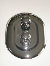 2 WAY THERMOSTATIC SHOWER MIXER TAP TAPS VALVE, OVAL ROUND STYLE, CHROME, 063N