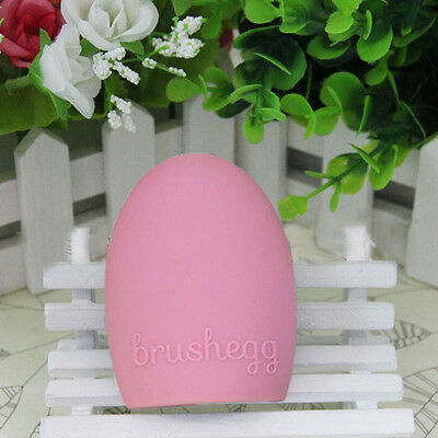 Fashion Women Egg Cleaning Glove MakeUp Washing Brush Scrubber Board Brushegg