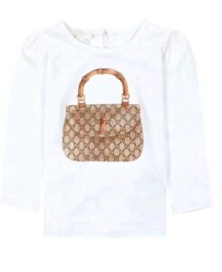0d3c9872dc4c NWT NEW Gucci Baby Girls white bamboo tee shirt size 9/12m with ...