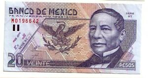 Mexico-Messico-20-pesos-2000-BB-SPL-VF-XF-pick-111-lotto-3242