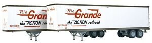WALTHERS-HO-1-87-SCALE-RIO-GRANDE-45-039-STOUGHTON-TRAILERS-2-PACK-949-2204-F-S