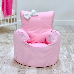 CHILDRENS KIDS TODDLER PRE FILLED PERSONALISED BEAN BAG CHAIR SEAT GIRLS