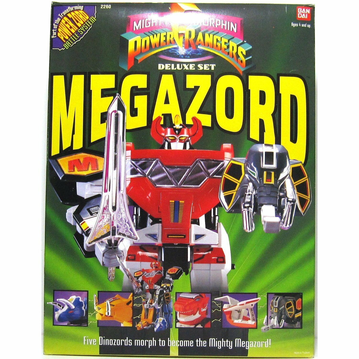 Mighty Morphin Power Rangers Deluxe Megazord New Sealed (1993)
