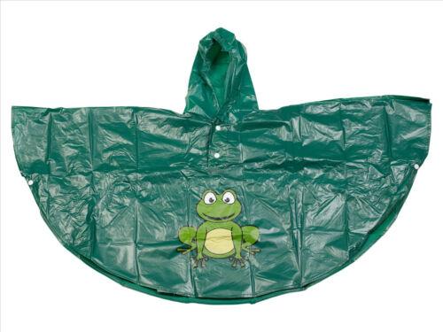 Boys Girls Kids Rainproof Waterproof Poncho Mac Summer Raincoat Coat With Hood