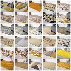 Détails sur Moderne Ocre Moutarde Jaune Citron Tapis Salon Petit Large  Géométrique Rugs UK- afficher le titre d\'origine