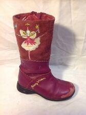 Girls Start-Rite Purple Leather Boots Size 8F