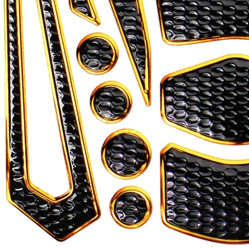 "24PCs Chrome Gold Fuel Tank Pad+6/"" Logo+Letter Fairing Emblem Sticker for Yamaha"