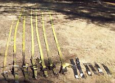 """Lot of Cargo and Axle Straps for Hauling cars 6 Keeper 2""""X27' Jeg's, Strap-on"""