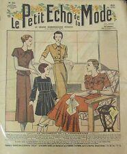LE PETIT ECHO DE LA MODE N° 35 de 1934 GRAVURE VINTAGE TROUSSEAU LA PENSIONNAIRE