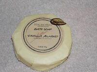 Tuscan Hills Vanilla Almond Bath Bar Round Soap 3.4 Oz/95g