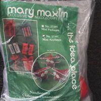 Mary Maxim Plastic Canvas Kit Mini Airplane Ornaments Kit Makes 8 27397
