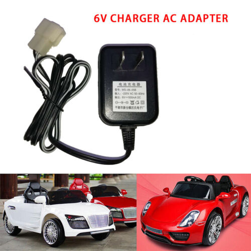 Wall Charger AC Adapter For 6V Battery Powered Ride On Kid TRAX ATV Quad Car