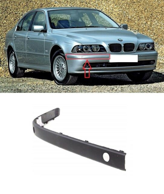 BMW Neu Original 5 E39 Vorne Stoßstange O/S RECHTS Reiben Sie Streifen Blenden