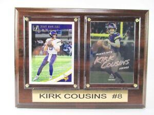 Kirk-Cousins-Minnesota-Vikings-Holz-Wandbild-20-cm-Plaque-NFL-Football