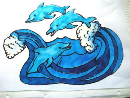 Gabis Window Color Bilder Deko Bad Wasser Maritim Delphine versch.Bilder /& Farbe