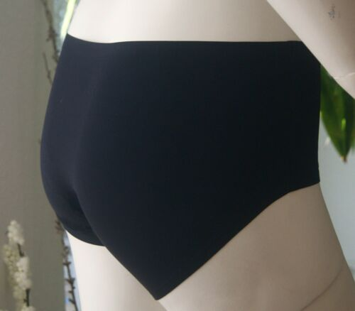 3 Stück M-Mala Unsichtbar Mikrofaser Slip Panty Unterhose Schwarz Haut NEU