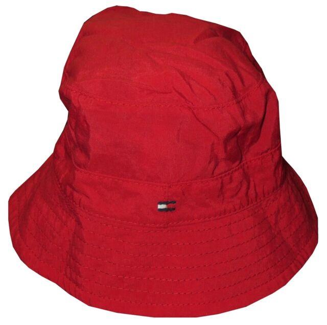 NEW KIDS BOYS TOMMY HILFIGER REVERSIBLE BEACH SUN BUCKET HAT CAP BABY 3-9 M